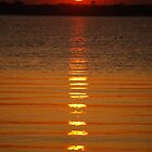 Spring sunset over Joe Pool by marycloch