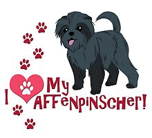 I Love My Affenpinscher by thekohakudragon