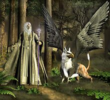 The Wizard and The Gryphon by Walter Colvin