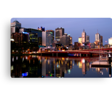 Melbourne City lights Canvas Print