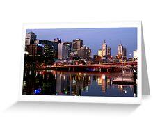 Melbourne City lights Greeting Card