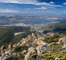 Mt. Wellington Towards Hobart by MiImages