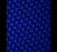 Blue Straw Weave iPhone / Samsung Case by Tucoshoppe