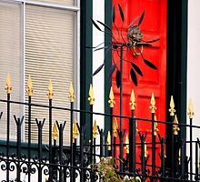 Ornate Metal Fence With Froufrou by Michael May