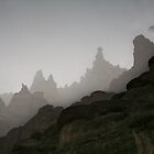 Fog in mountains (Afghanistan) by Antanas