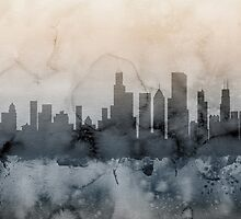 Chicago Illinois Skyline by Michael Tompsett