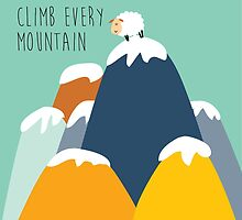 Sound of music - climb every mountain by laurathedrawer