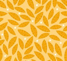 Happy yellow leaves by laurathedrawer