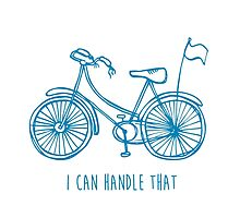 Hipster bicycle - blue - matches with orange bicycle by laurathedrawer