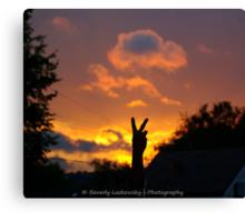 Peace-ful Sunset Canvas Print
