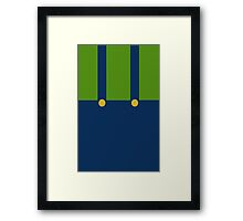 It's a me, err... Luigi? Framed Print
