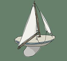 model sailing boat by Sandy Mitchell