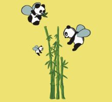 Flying pandas Kids Clothes