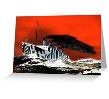 RMS Titanic's Senior Sister RMS Olympic - all products bar duvet Greeting Card