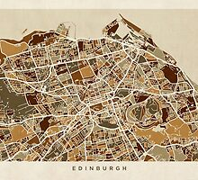 Edinburgh Street Map by Michael Tompsett