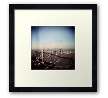 Even if very small Framed Print