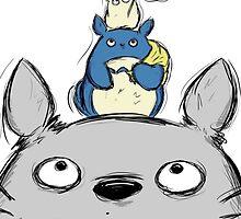 Totoro Drawing Umbrella ! [UltraHD] by Paul Gautier