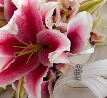 Wedding Flowers & Brides Shoe by Tim Smith