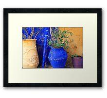 Flower Pots, Greek Style Framed Print