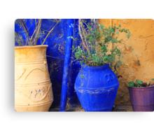 Flower Pots, Greek Style Canvas Print