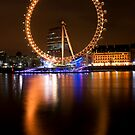 London Eye at Night by Victoria Ashman