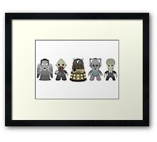 Doctor Who Monsters Framed Print