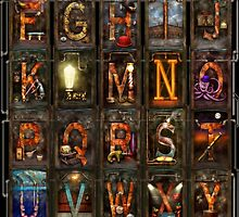 Steampunk - Alphabet - Complete Alphabet by Mike  Savad