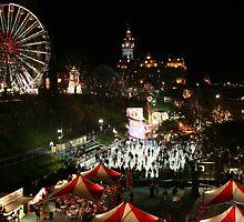 Edinburgh at Christmas and New Year by Linda More