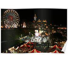 Edinburgh at Christmas and New Year Poster