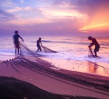 Day With The Fishermen 3 by Tony Elieh