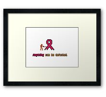 Anything Can Be Defeated(Vampire Killer/Variant) Framed Print