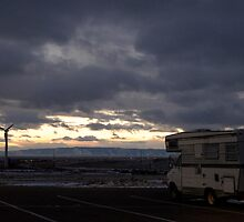 RV on a dark Wyoming Evening by welchbelch
