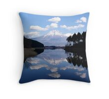 Diamond View - A Fuji Reflection Throw Pillow