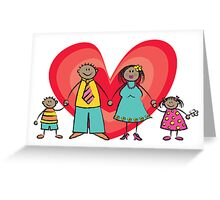 Happy Family 2 + 2 Greeting Card