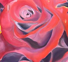 Rose Red Valentine Heart by DocSusan
