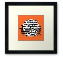 Percy Jackson and the Olympians The Sea of Monsters Prophecy Framed Print