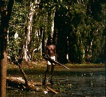 David Gulpalil in arafura Swamp by Damian McGrath