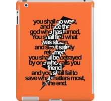 Percy Jackson And the Olympians The Lightning Thief Prophecy iPad Case/Skin