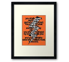 Percy Jackson And the Olympians The Lightning Thief Prophecy Framed Print
