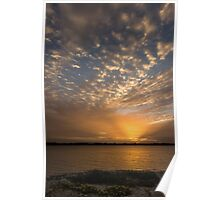 Soft Cloudy Sunset Poster