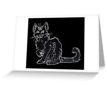 starfield psychic cat [3] Greeting Card