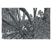 Old Wheel - www.jbjon.com Photographic Print