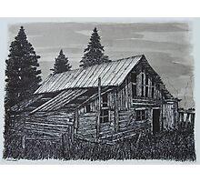 Log Shed - www.jbjon.com Photographic Print
