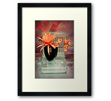 Eleven Inch Glass Blocks, My Point Being... Framed Print