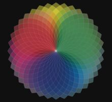 Spirograph - Color Spectrum Multiply T-Shirt