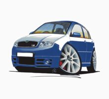 Skoda Fabia vRS Race Blue by Richard Yeomans