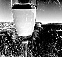 Wine and abandon window; BW by Kornrawiee