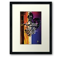 It Starts With The Light Framed Print