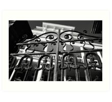 South Battery Gated Mansion Art Print