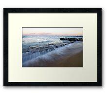 Dusky Rock Framed Print